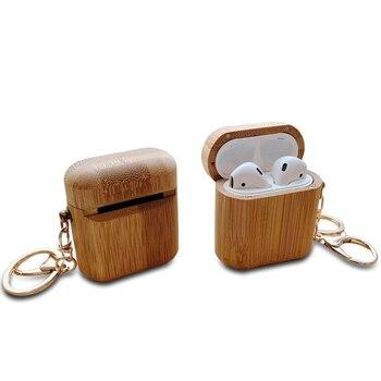 Étui en bois pour écouteurs pour Airpods TWS Bluetooth i10 i12 étui en bois étanche à la poussière coque fabriquée à la main naturel pour boîte Airpods