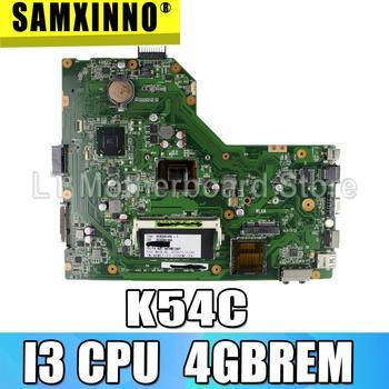 K54C Motherboard I3 CPU 4GB RAM For ASUS K54 K54C X54C Laptop motherboard K54C Mainboard K54C Motherboard test 100% OK