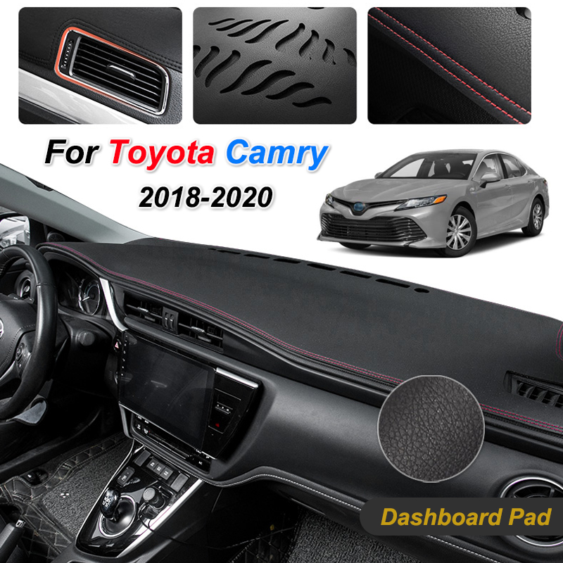For Toyota Camry XV70 2018 2019 2020 Anti-Slip Mat Dashboard Dash Cover Pad Sunshade Dashmat Protect Carpet Car Accessories