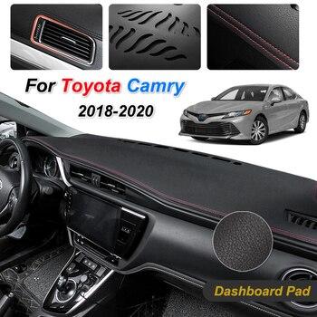 Противоскользящий коврик для Toyota Camry XV70 2018 2019 2020, приборная панель, накладка, Солнцезащитный коврик, защитный ковер, автомобильные аксессуары