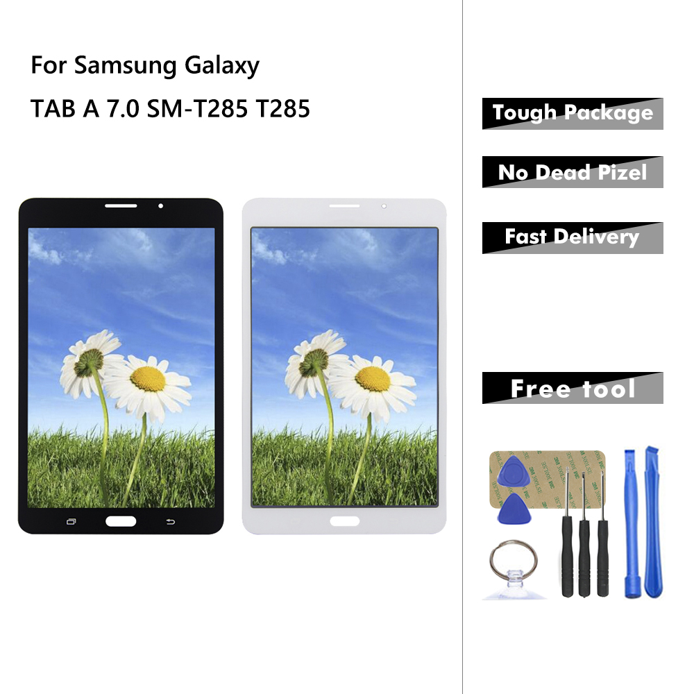 Display For Samsung Galaxy TAB A 7.0 SM-T285 T285 Touch Screen Digitizer Glass + LCD Display Assembly Panel Replacement