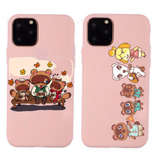 Animal Crossing New Horizons Case Soft TPU Silicone Pink Phone Cover for iPhone 11 Pro Max X 6S 7 8 Plus XS XR XSMAX Cases.