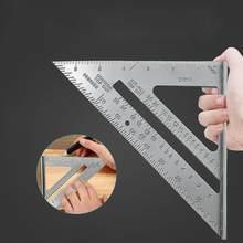 Liga de alumínio triângulo regra carpenter medição régua quadrada 90 graus espessamento ângulo regra