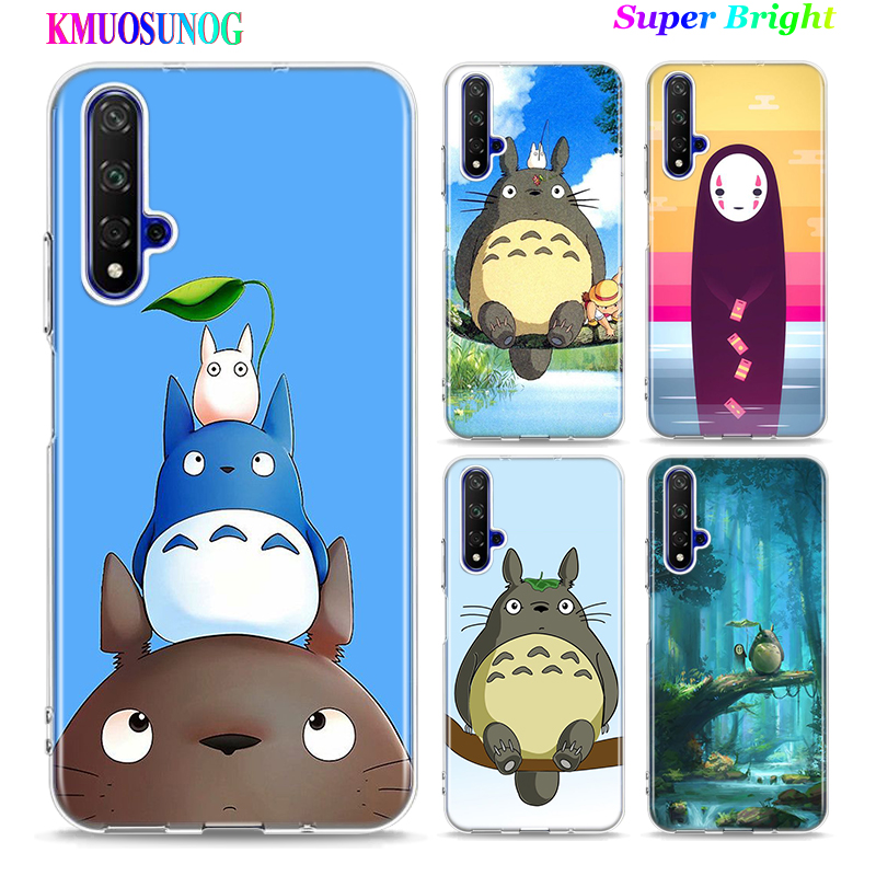 Silicone TPU Cover <font><b>Anime</b></font> Totoro Ghibli Spirited for Huawei <font><b>Honor</b></font> 10i 9X 8X 20 10 9 Lite <font><b>8</b></font> 8A 7A 7C Pro Lite Phone <font><b>Case</b></font> image