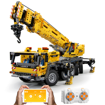 Mould King 13107 Technic Remote Control Truck Motor Power Mobile Crane Mk II Truck MOC-42009 Model Building Blocks Bricks Toys image