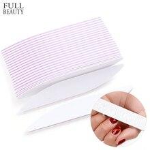 5 Pcs/lot Double-Sided Mini Nail File 100/180 Sanding Nail Polishing Buffer Block Washable Sandpaper Manicure Care Tool CHA25-1