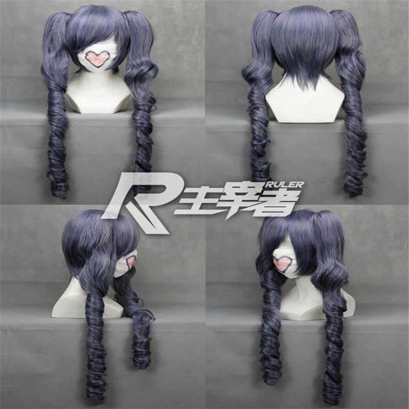 Black Butler Kuroshitsuji Ciel Phantomhive Cosplay Wig +Clip Ponytails