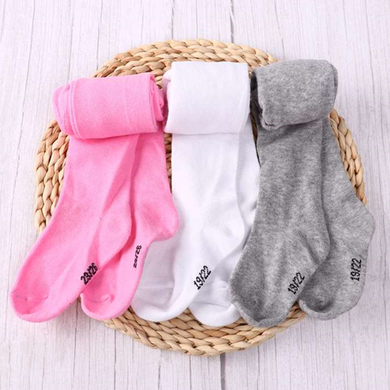 0-6Yrs Children Spring/Autumn Tights Cotton Baby Girl Pantyhose Kid Infant Knitted Tights Soft Infant Clothing 1