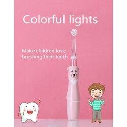 Profesjonalna szczoteczka do zębów dla dzieci soniczna szczoteczka do zębów dla dzieci Cartoon wodoodporna miękka higiena jamy ustnej pielęgnacja zębów w Elektryczne szczoteczki do zębów od AGD na