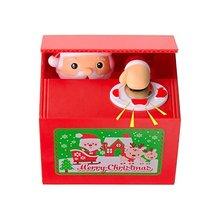 Рождественская Монета Банка кража денег милый Санта-Клаус Пенни Копилка Автоматическая монета захват еды экономия денег коробка