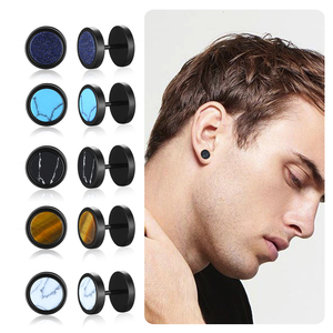 ASSORTED COLORS MENS EARRING S