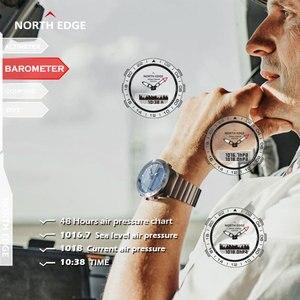 Image 5 - Oryginalny North Edge mężczyzna GAVIA 2 inteligentny zegarek zegarki biznesowe luksusowy pełny stalowy wysokościomierz kompas nurkowanie sport wodoodporny zegarek