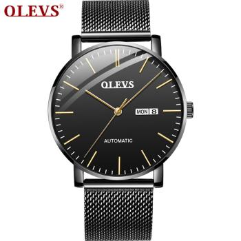 Brand Quality Ultra Thin Mechanical Watch Men Business Date Wristwatch Men Waterproof Skeletion Watch For Male Heren Horloge