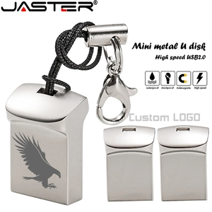 JASTER Mini metal USB flash drive 4G 8G 16GB 32GB 64GB 128G Personalise Pen Drive USB Memory Stick U disk gift Custom logo