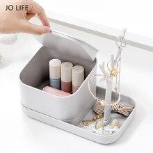 JO LIFE Home Desktop Storage Shelf Jewelry Key Cosmetics Sundries Plastic Box