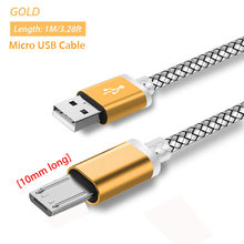 Kabel Micro USB 10mm do Blackview BV6000/BV5000/BV4000/Geotel G1/AGM X1/DOOGEE S60/S60 Lite/Doogee S30 kabel ładowarki(China)