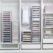 Tiroir de rangement de placard, organisateur de vêtements pliables et détachables, armoire, planche de séparation, panier de rangement pour vêtements