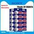 SONY cr2016 литиевая батарея 3 в, 15 шт., литий-ионные кнопочные батареи, часовые батарейки, cr 2016 DL2016 ECR2016 BR2016 для часов