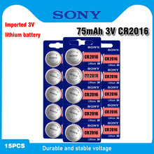 15pc sony cr2016 bateria de lítio 3v botão li-ion bateria relógio de pulso baterias de pilha de moedas cr 2016 dl2016 ecr2016 br2016 para relógio