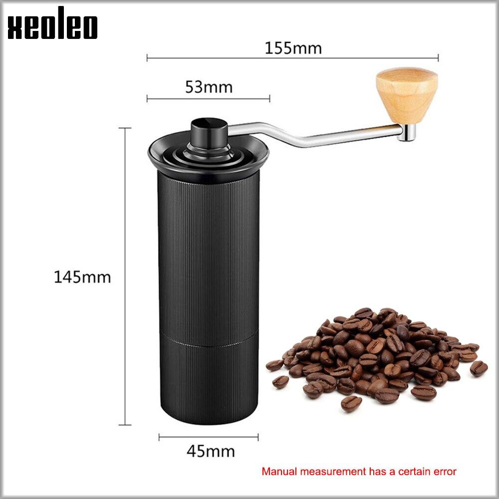 XEOLEO Manual Coffee grinder 45MM Aluminum Coffee miller Black/Brown/Silver/Gold 15g Mini Portable Coffee milling machine 2