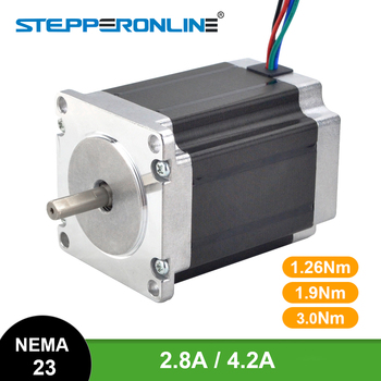 Nema 23 Stepper Motor 3Nm/1.9Nm/1.26Nm 4-lead 2.8A/4.2A 57 Motor Stepping Motor for 3D Printer CNC Engraving Milling Machine pcb engraving machine nema 23 cnc stepper motor 3nm 3a 57 76 4 wires for cutting lather