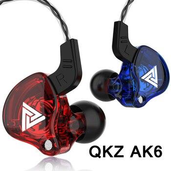 Original QKZ AK6 Copper Driver HiFi Wired Earphone Sport Running  Headphones Bass Stereo Headset Music Earbuds fone de ouvido 1