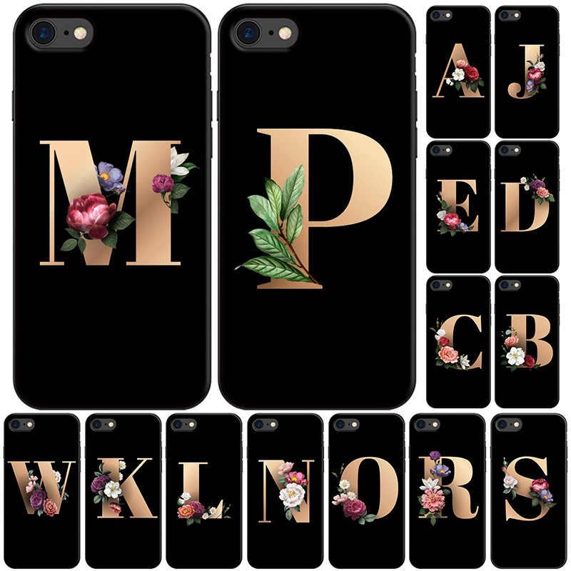 Funda iPhone 6 Plus / 6S Plus 6 Plus negra flores vintage colores