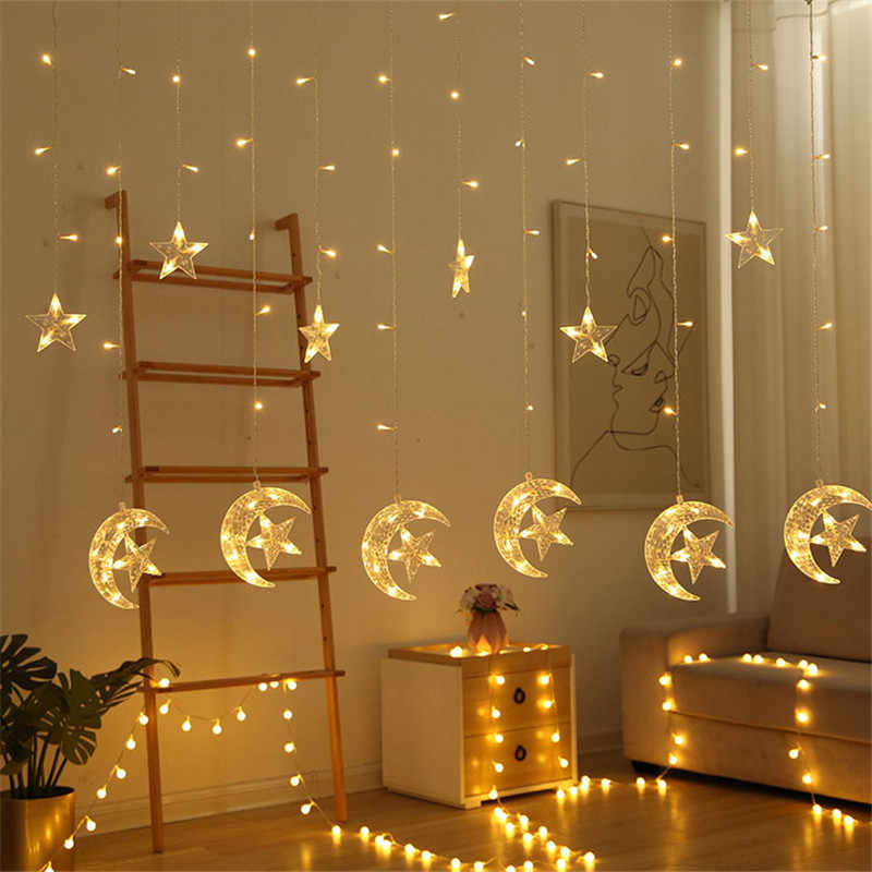 Led Lights Bedroom Curtain Lamp Cristmas Party Decoration Lamp Outdoor Garden Courtyard Porch Corridor Bedroom Hanging Lights Lighting Strings Aliexpress