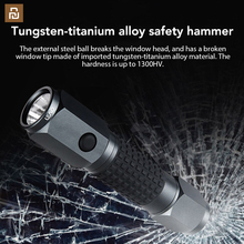 LEAO 강력한 LED 손전등 자동차 안전 망치 방수 다이빙 플래시 라이트 안전