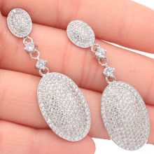 Hot sell cross purple sapphire Wedding Engagement Girls Party Gift 925 Silver Pendant