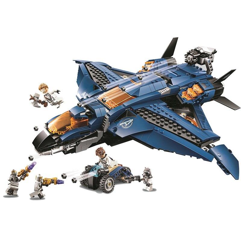 Image 3 - 2019 Avengers 4 Endgame Ultimate Quinjet Set Legoings 76107 76108 76123 76125 76126 76131 Building Blocks Brick Toys-in Blocks from Toys & Hobbies