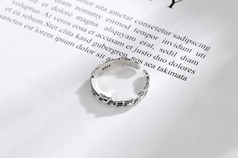 Todorova Retro Musical Note Rings For Women Fashion Jewelry Vintage Opening Adjustable Tail Ring Ladies Party Rings