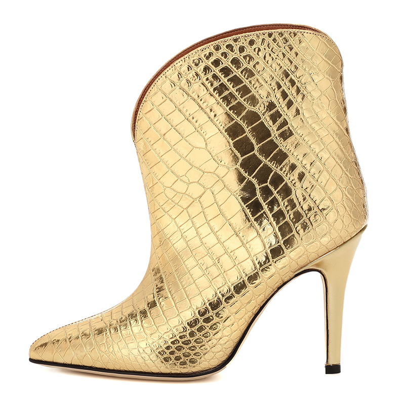 gold ankle boots (3)