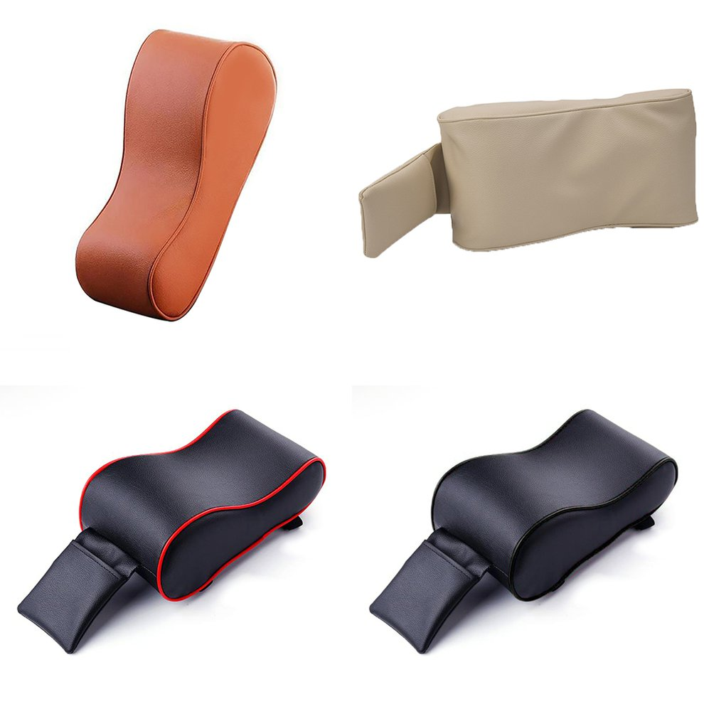 Car Armrest Box Cushion Luxury Leather Memory Foam Booster Pad Hand-Held Box Mat Auto Parts