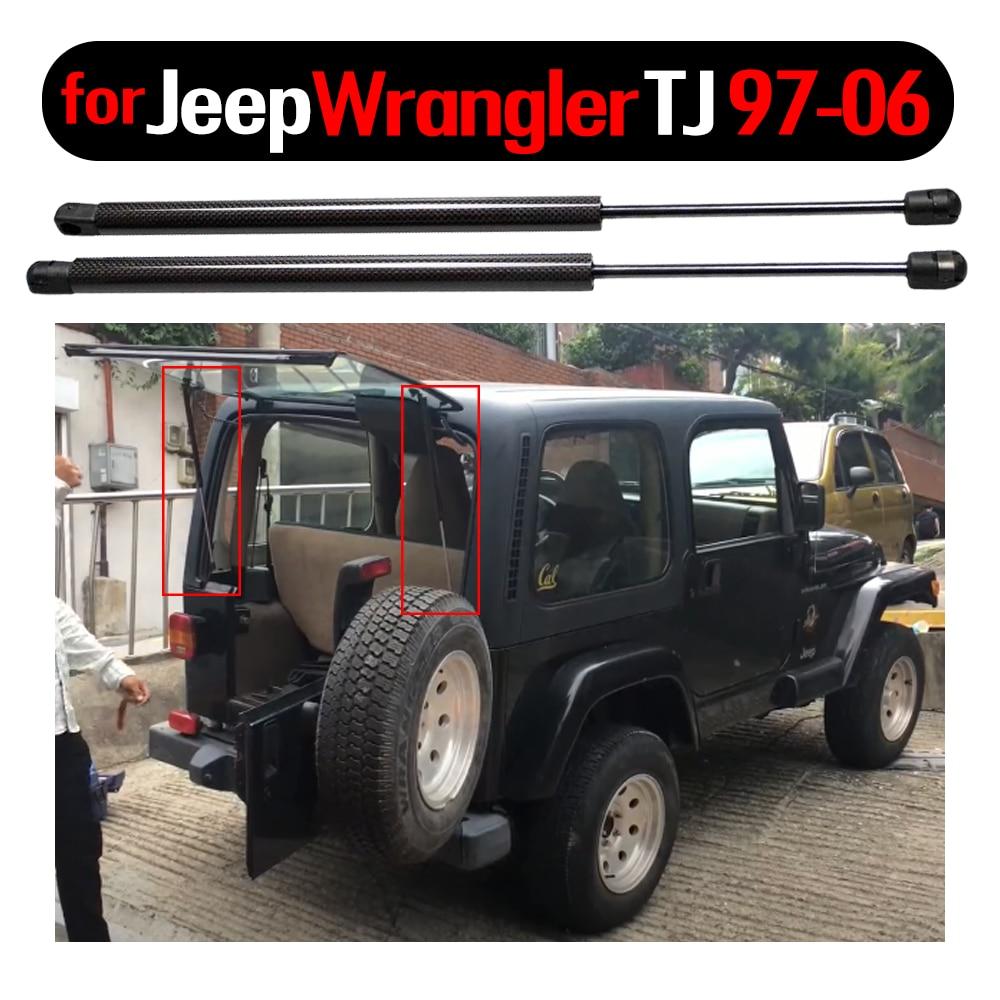 Купить 2 шт амортизирующие стойки для заднего стекла jeep wrangler