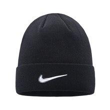 Зимняя вязаная шапка для женщин и мужчин, модная теплая Шапка-бини, шапка для девочек и мальчиков, Повседневная Мягкая черная шерстяная шапка Skullies с капельками
