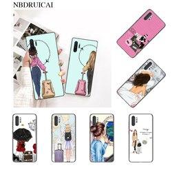 NBDRUICAI Vogue Girl Дорожный Чехол черный мягкий чехол для телефона для Samsung Note 3 4 5 7 8 9 10 pro M10 20 30