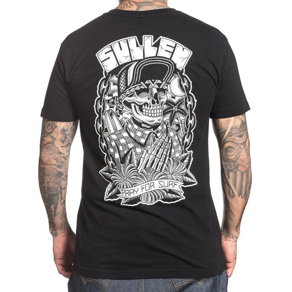 Sullen Clothing Pray For Surfer Choloha Capsule T Shirt Black S 3Xl New Unisex Fashion T Shirts Top Tee(China)