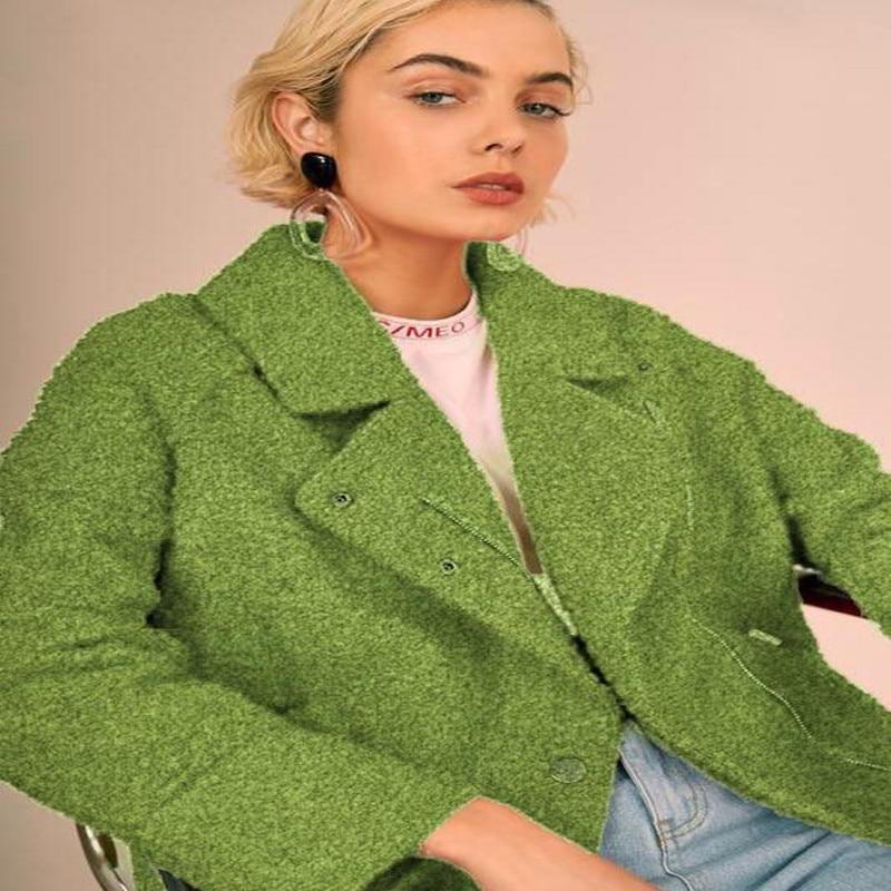 150cm vert double face boucle laine cachemire tissu robe manteau impression super hollandais sequin textiles bricolage tissu C996