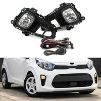 Car Fog Lamp Assembly for Kia Picanto 2017 2018 2019 Front Bumper Halogen Headlight Daytime Running Light With Cover Switch