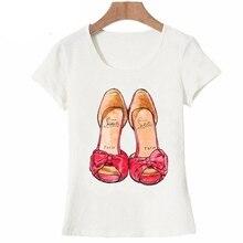 Vintage Fashion Paris T Shirt I Need A Simple Paris Red Shoes Shoe for Women T Shirt Funny Art Design Tops Casual Tees