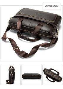 Image 5 - WESTAL maletín de mensajero de piel auténtica para hombre, maletín para ordenador portátil de 14 , para oficina y negocios, 8572