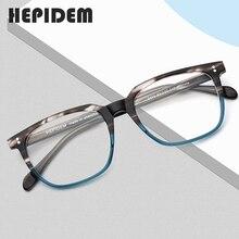 アセテート眼鏡フレーム男性正方形処方メガネ新人男性の男性近視光学フレーム眼鏡眼鏡9114