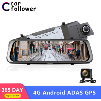 Car Family 10 Inch Android Dash Cam 4G Wifi Car DVR Full HD 1080P Rear View Mirror ADAS GPS Navigation Bluetooth Video Recorder image