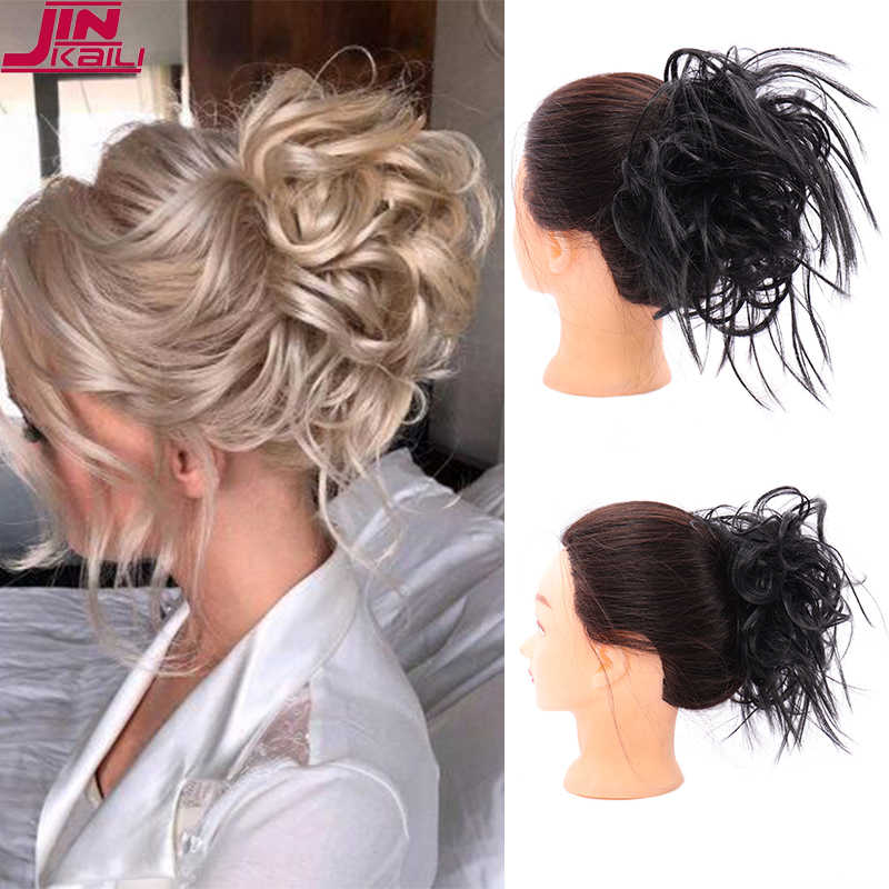 Jinkaili Natural Hair Chignon 30g Synthetic Donut Hair Bun Pad Popular High Side Bun Trendiest Updos For Medium Length Hair Synthetic Chignon Aliexpress