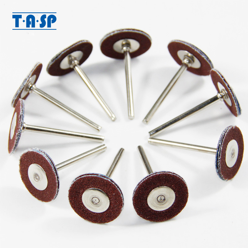 TASP Abrasive Sanding Paper Polishing Wheels 3.2mm Shank 10PC Mini Drill Rotary Tool Accessories