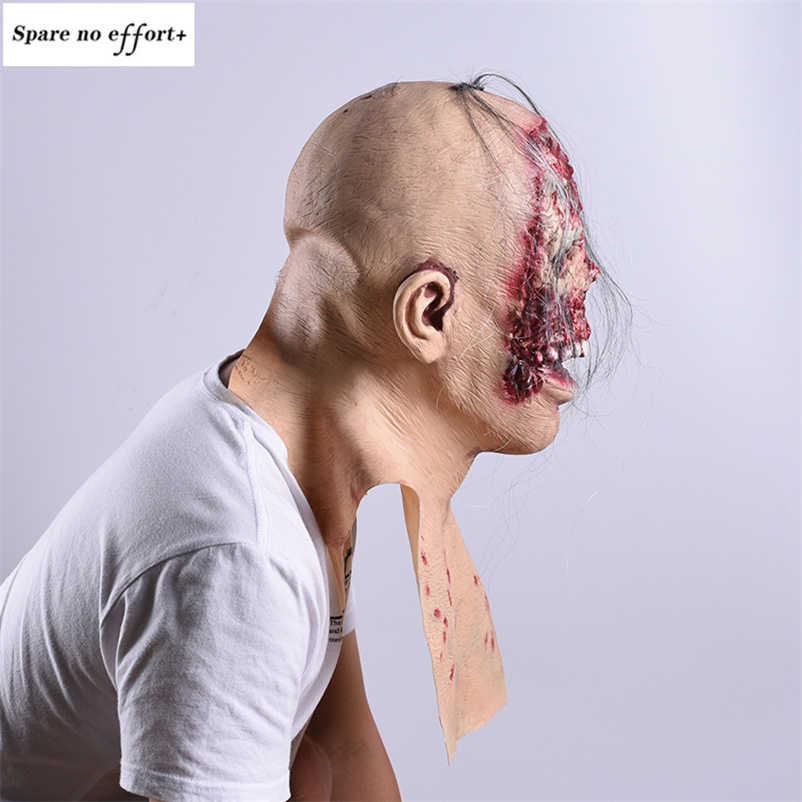 Skull Skeleton หน้ากากฮาโลวีน Bloody Zombie ตกแต่งฮาโลวีนบ้านผีสิง Cosplay Skull สยองขวัญฮาโลวีน Party Supplies