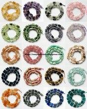 Jades d'oeil de tigre à facettes naturelles, améthystes de 7 pouces, Etc. Perles de pierre d'espacement de cylindre pour la fabrication de bijoux, bricolage