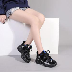 Image 3 - נשים של ירוק סניקרס אופנתי לנשימה ריצה נעלי שמנמן נעלי אבא עבה תחתון טריז עקב גבוהה נעליים יומיומיות
