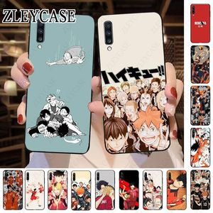 Anime Haikyuu Nekoma Black Cell Phone Case For Samsung Galaxy A50 A10 A20 A20E A20S A30S A40 A51 A70 A30 A6 A7 A8 Coque Cover
